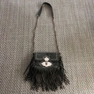 Cache Bags - Cache green suede fringe purse